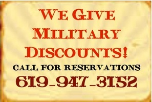 Military Discount horseback riding