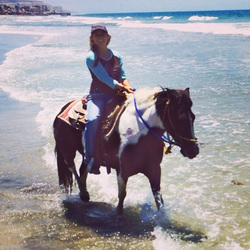 Horseback riding on the beach San Diego
